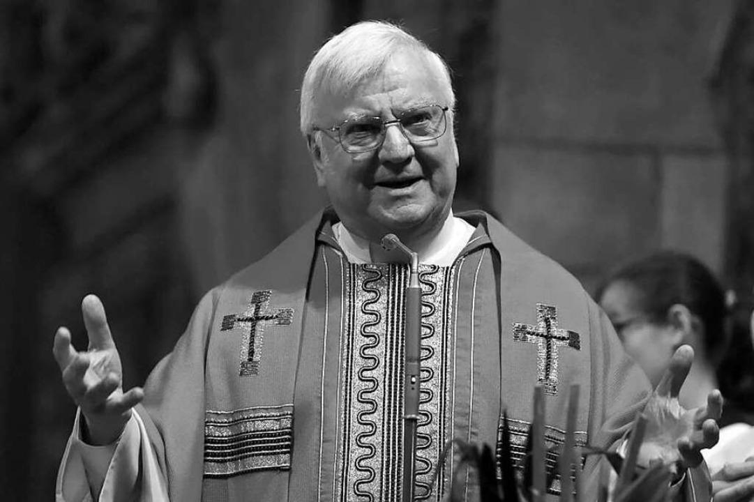 Wolfgang Gaber beim Festgottesdienst z... er im Alter von 73 Jahren verstorben.  | Foto: Rita Eggstein
