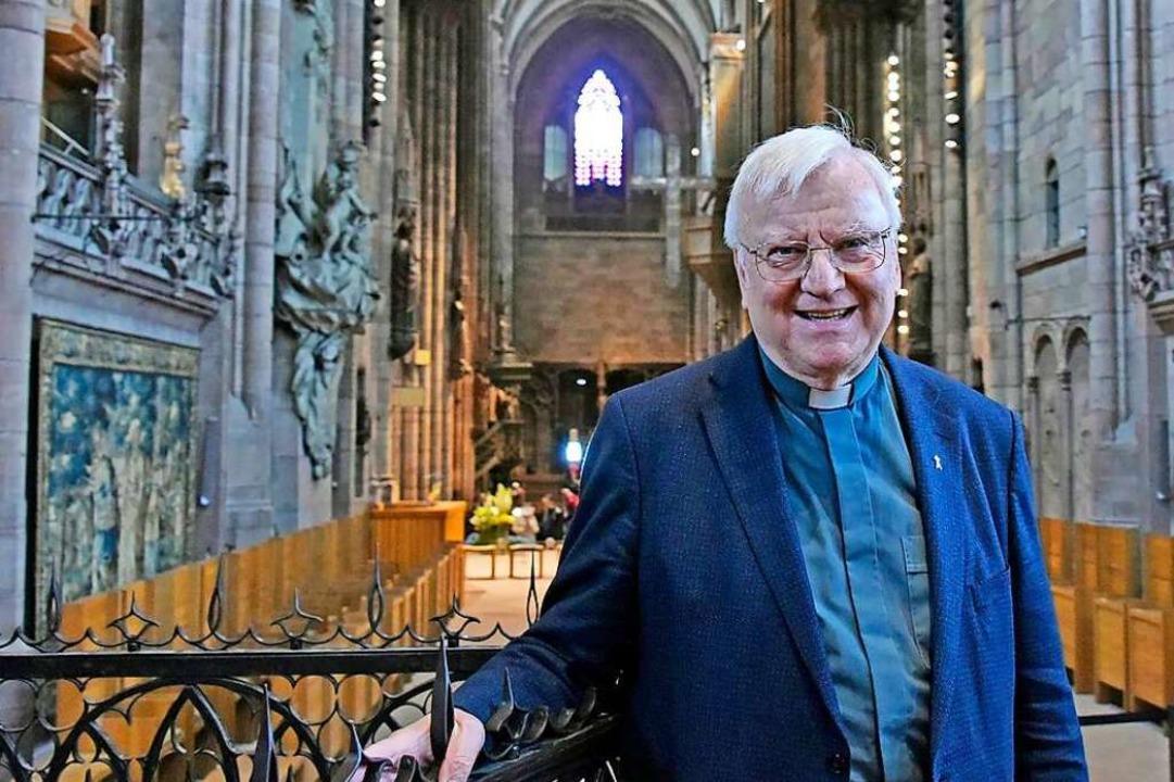 Wolfgang Gaber im Freiburger Münster. ...seiner Verabschiedung vor drei Jahren.  | Foto: Michael Bamberger