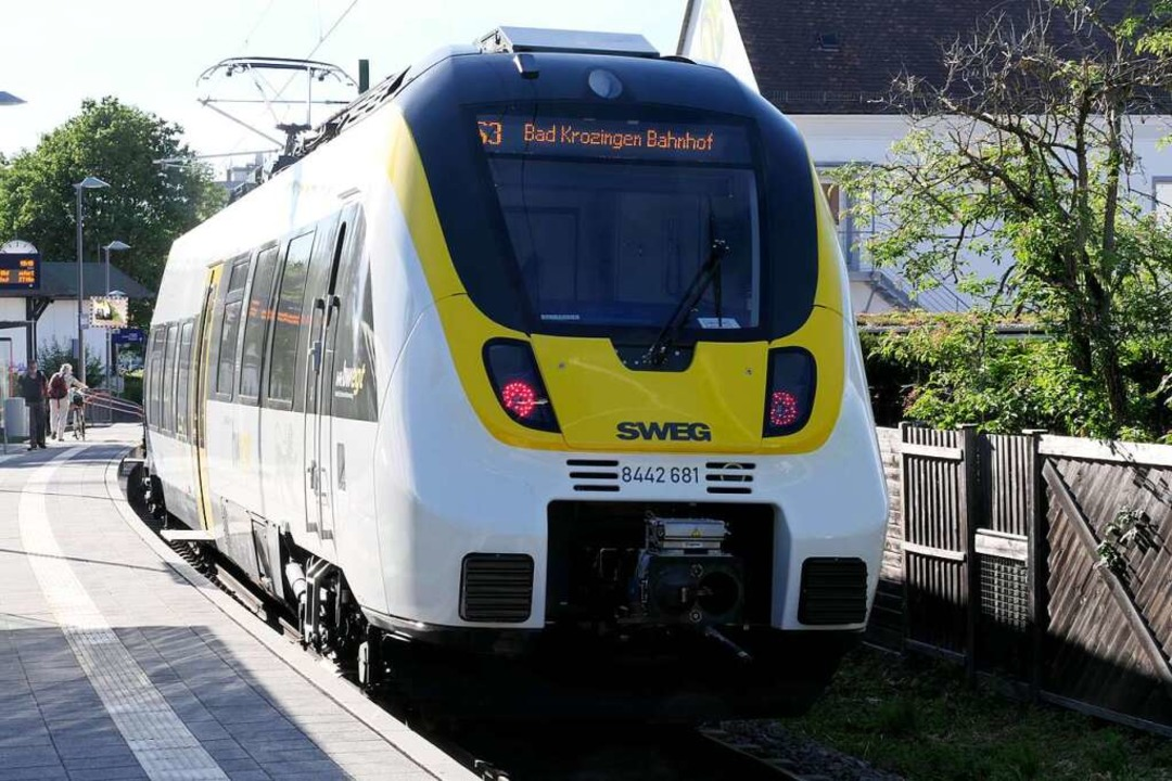 Die neuen Züge des Typs Talent 3 sind ...nur auf der Münstertalbahn im Einsatz.    Foto: Hans-Peter Müller