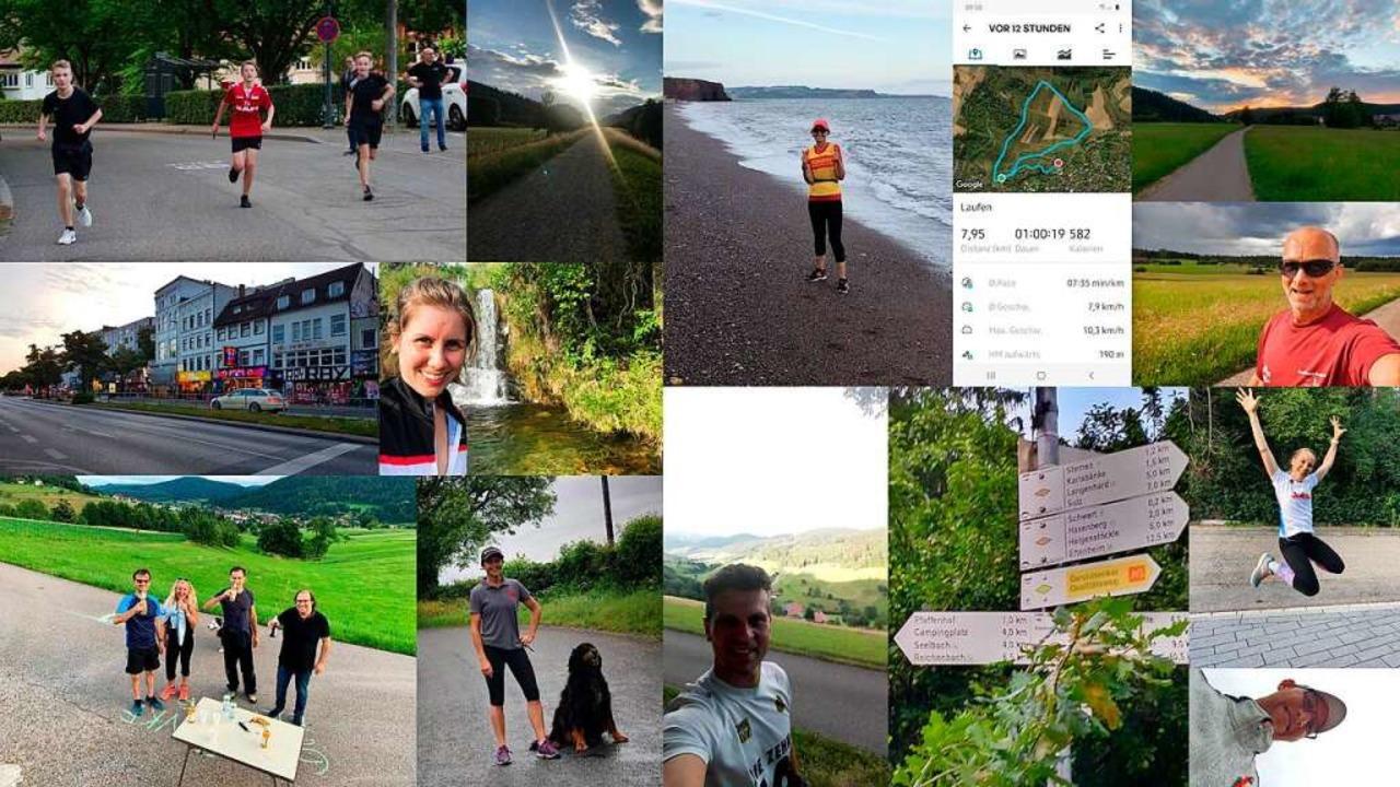 Eine  Collage mit Impressionen des Sonnwendlauf Virtual Run aus dem Jahr 2020.    Foto: Veranstalter