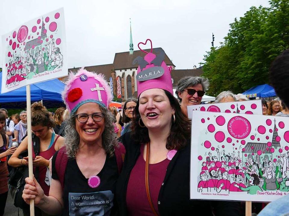 Am Frauenstreik 2019 beteiligten sich in Basel 40.00 Frauen.  | Foto: Martina David-Wenk