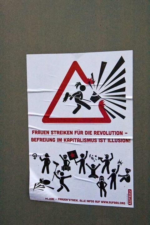 Aufruf zum Frauenstreik in Basel 2019  | Foto: Kathrin Ganter