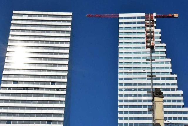 Wie der zweite Roche-Turm in Basel in die Höhe wuchs