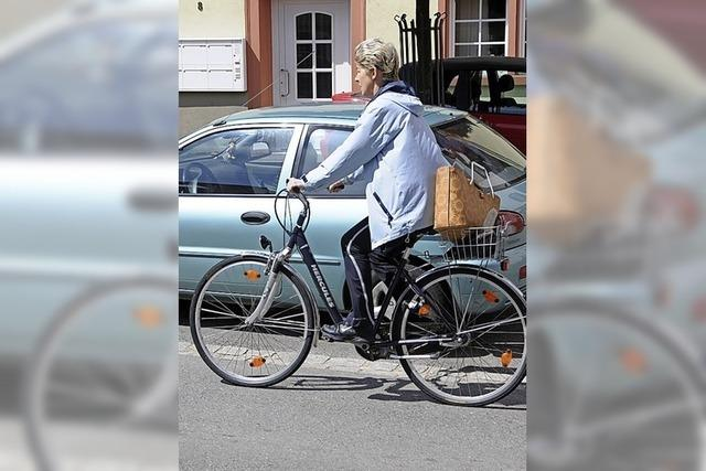 Auf dem Fahrrad Punkte sammeln für die Umwelt