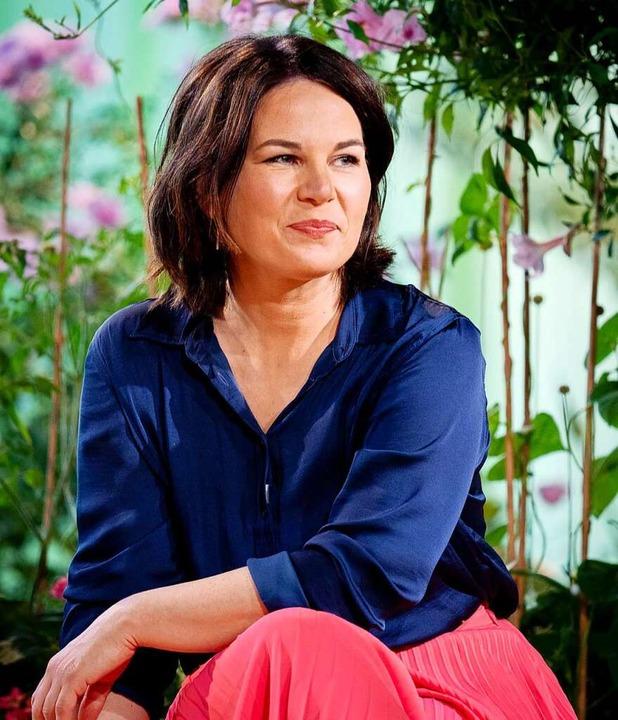 Annalena Baerbock am Freitag beim Auft...erkandidatin ihrer Partei gewählt wird    Foto: Kay Nietfeld (dpa)