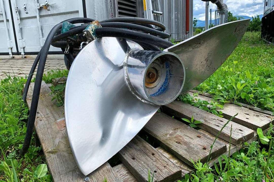 19 Tauchmotorrührwerke hängen in den B...s ist defekt und wird instand gesetzt.  | Foto: Simone Höhl