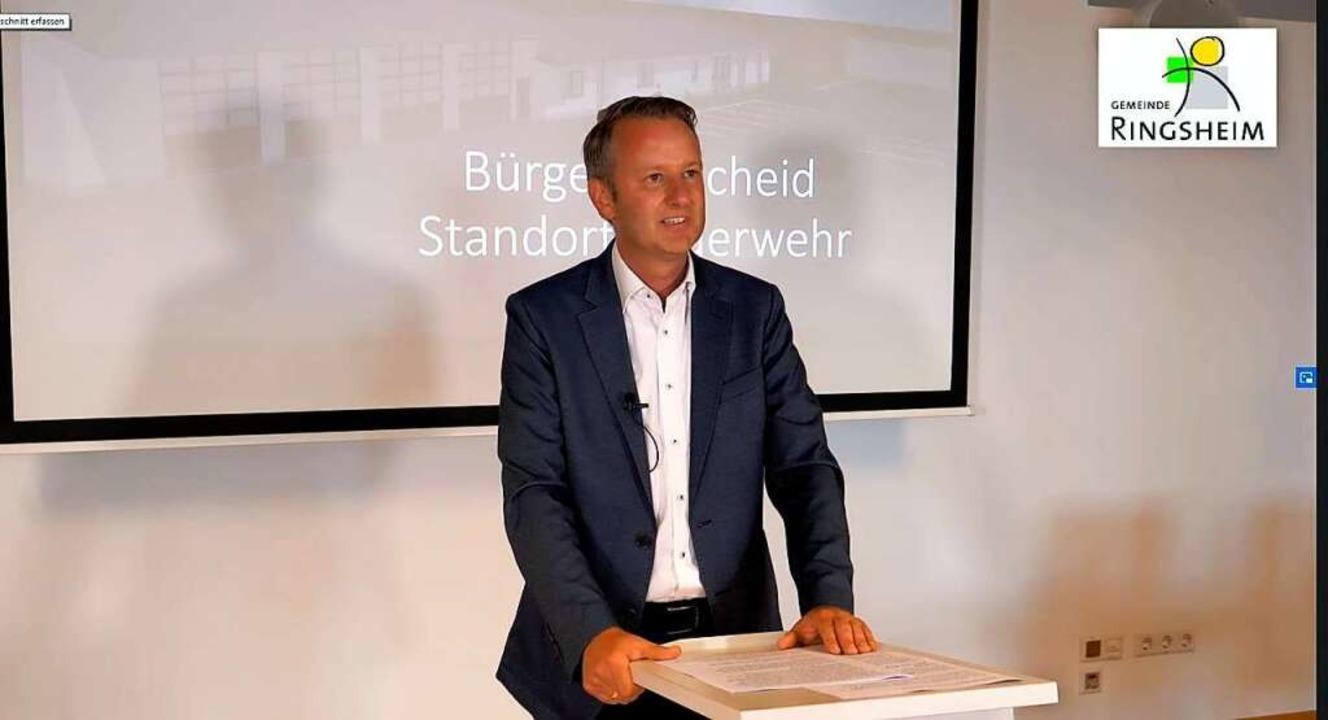 Bürgermeister  Pascal Weber im Video  | Foto: BZ