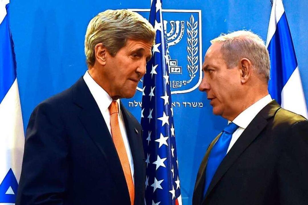 Der damalige US-Außenminister John Kerry und Netanjahu im Sommer 2014  | Foto: imago stock&people