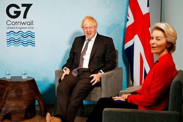 Streit beim G7-Gipfel: EU setzt Johnson wegen Nordirland unter Druck