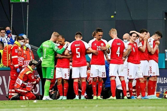 Dänischer Spieler Eriksen kollabiert auf dem Platz – Zustand nun stabil
