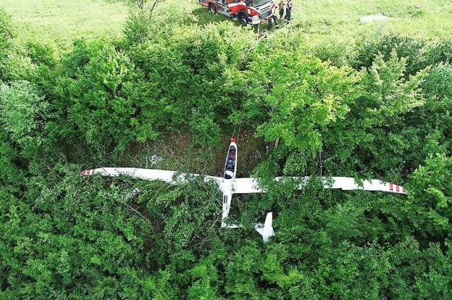 Ein Segelflugzeug stürzt im Kanton Baselland ab