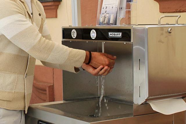 Mobile Station ermöglicht Händewaschen bei Veranstaltungen
