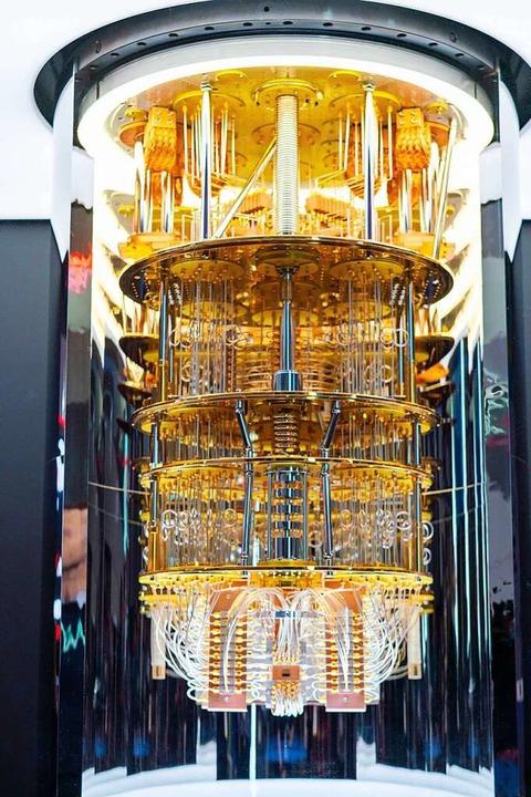 Sieht aus wie ein Kronleuchter, ist aber ein Quantencomputer.  | Foto: ---