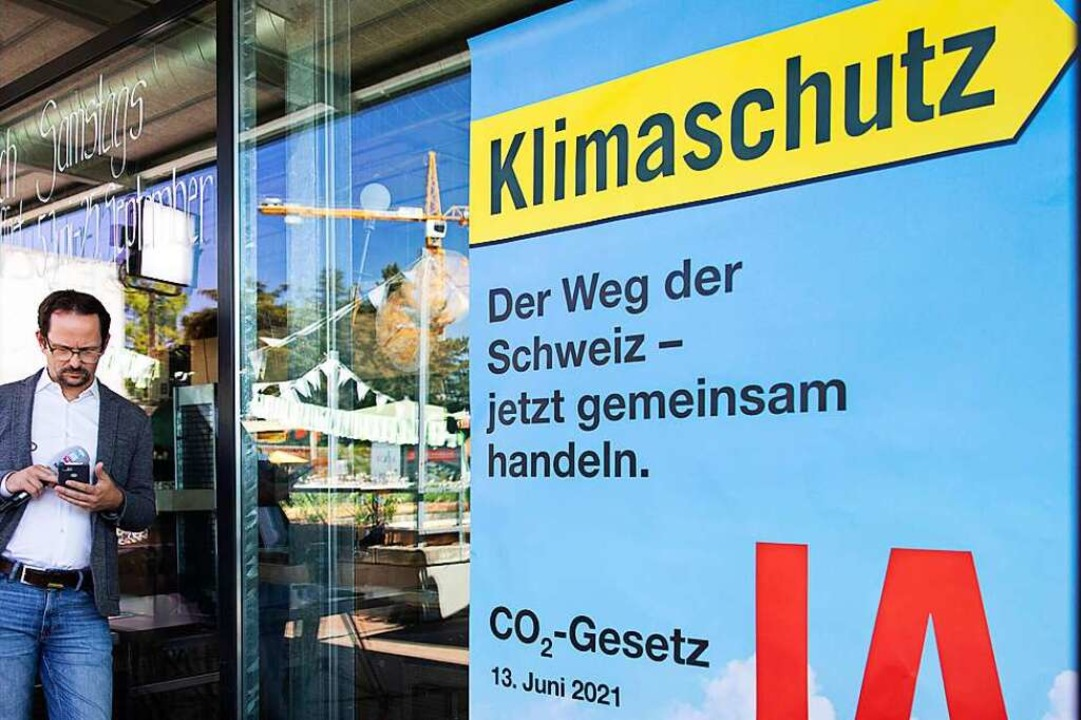 Abgelehnt: Das CO2-Gesetz  | Foto: Peter Klaunzer (dpa)
