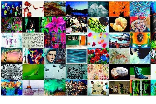 60 Abbildungen auf Postkarten als Bühne für Künstler