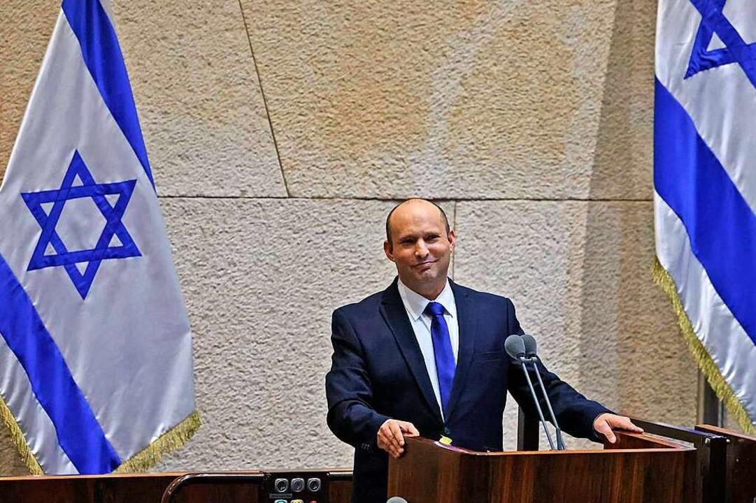 Naftali Bennett ist der neue Ministerpräsident in Israel.  | Foto: EMMANUEL DUNAND (AFP)