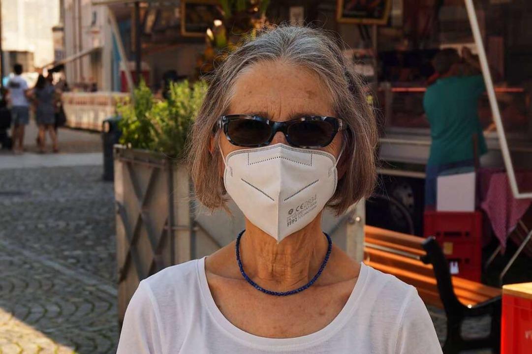 Regina Lieb-Beck (78): Sobald die Mask...askenpflicht von Anfang an akzeptiert.    Foto: Savanna Cosma