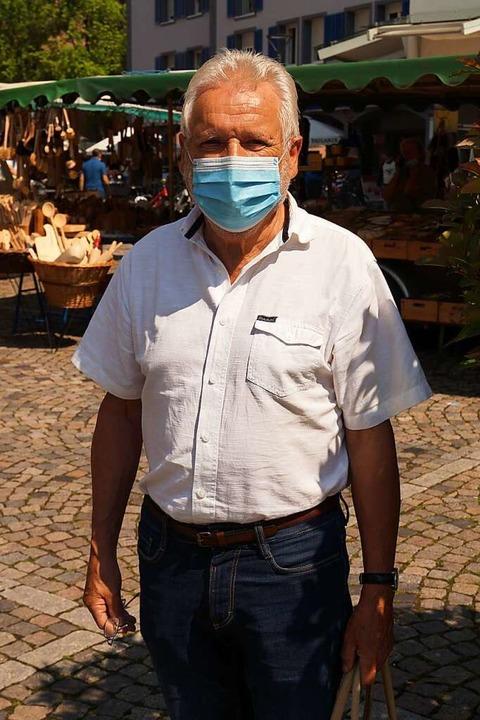 Felix Schöchlin (71): Die Frage ist, o...t, dass man gar keine Maske dabei hat.    Foto: Savanna Cosma