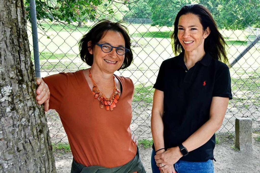 Die Leiterinnen des Mundenhofs: Susanne Eckert und Marion Bosch    Foto: Michael Bamberger