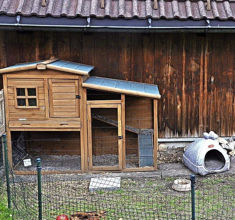 Aus diesem verriegelten Stall sind dre...ten, dass die Tiere gestohlen wurden.     Foto: privat