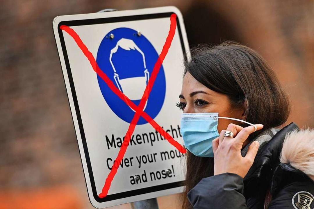 Wann wird die Maskenpflicht in Deutschland enden? Noch ist das unklar    Foto: Frank Hoermann/SVEN SIMON via www.imago-images.de