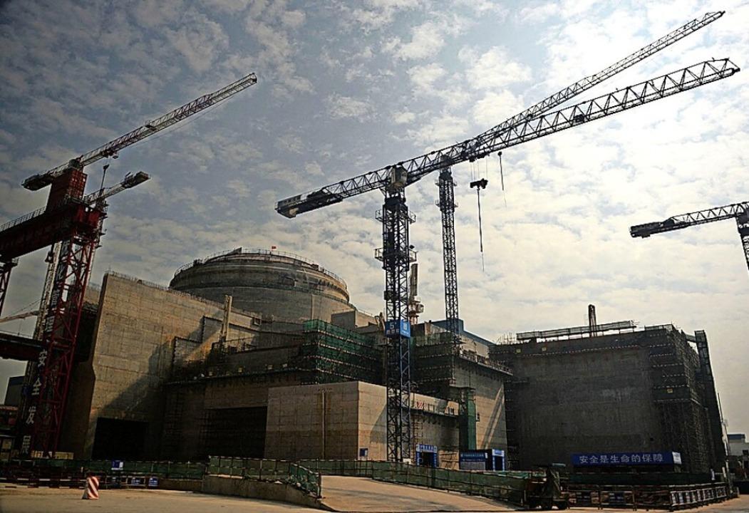 Blick auf das Akw in Taishan beim Bau (2013)  | Foto: PETER PARKS (AFP)