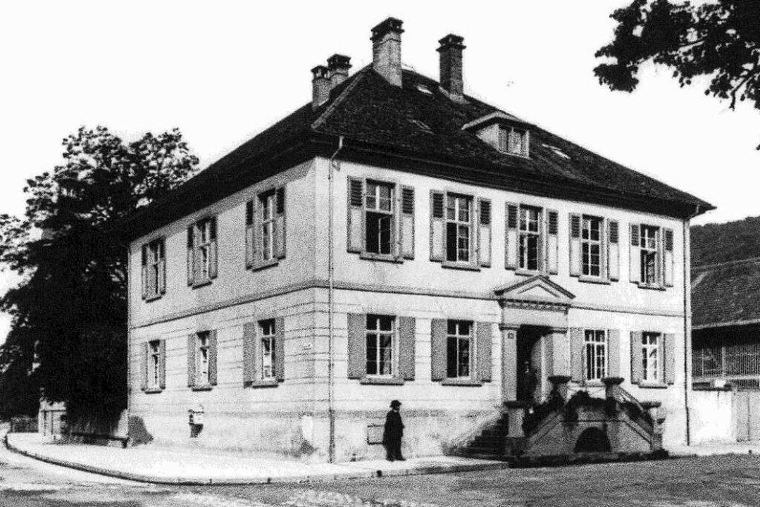 Das einstige Amtshaus in Schopfheim, d...urde, in einer historischen Fotografie    Foto: Stadtarchiv Schopfheim