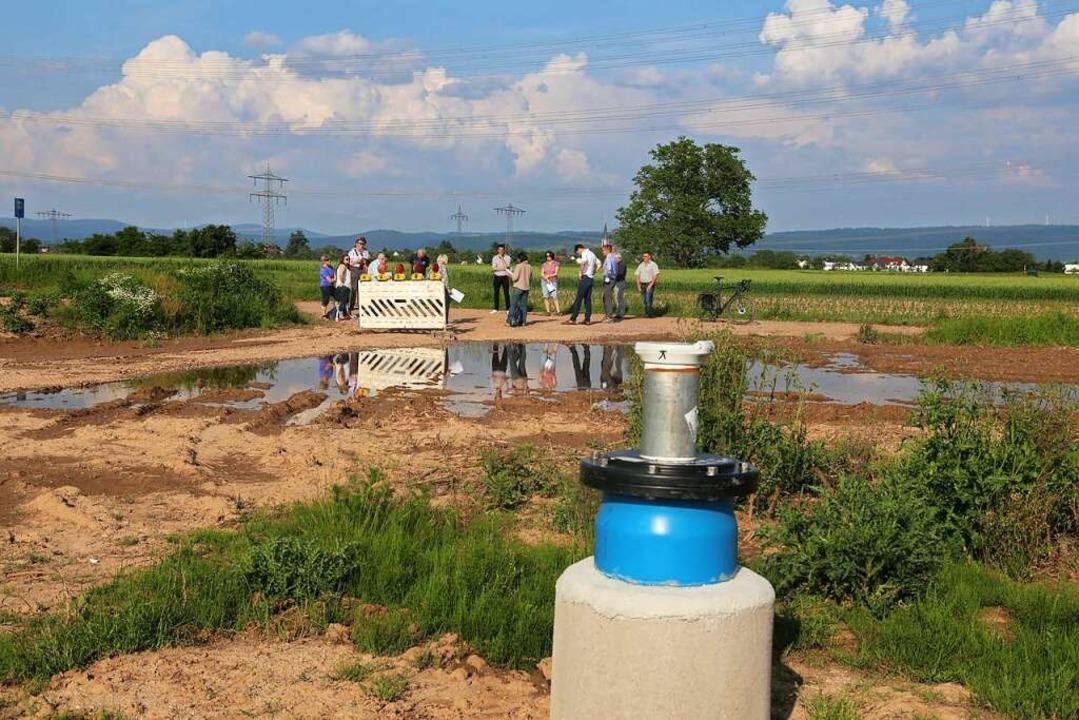 Ein neuer Brunnen soll den Trinkwasser...hausen und in Rust in Zukunft sichern.    Foto: Sandra Decoux-Kone