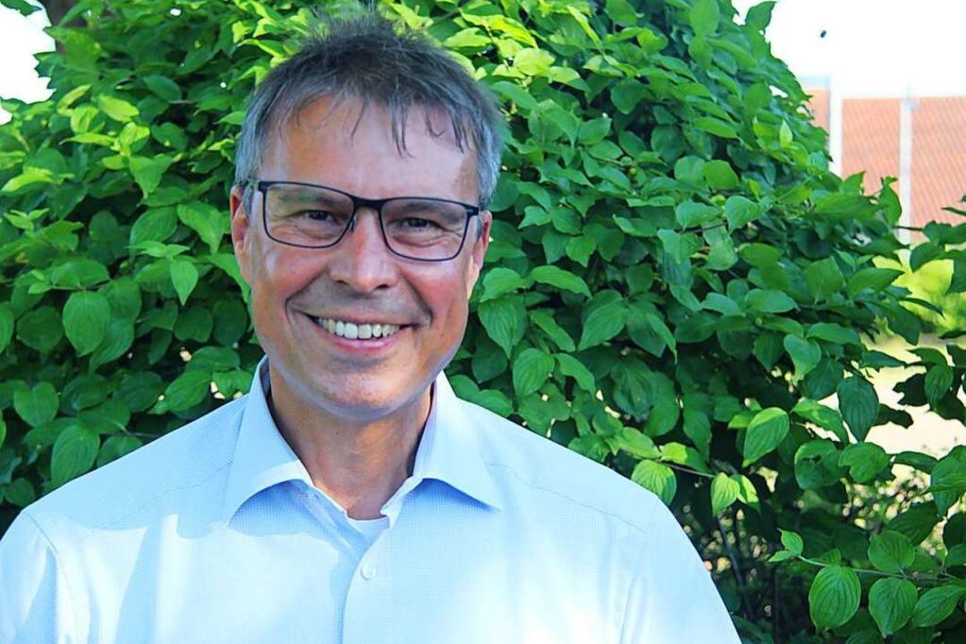 Amtsinhaber Michael Bruder tritt als e...terwahl am 11. Juli in Eichstetten an.    Foto: Horst David