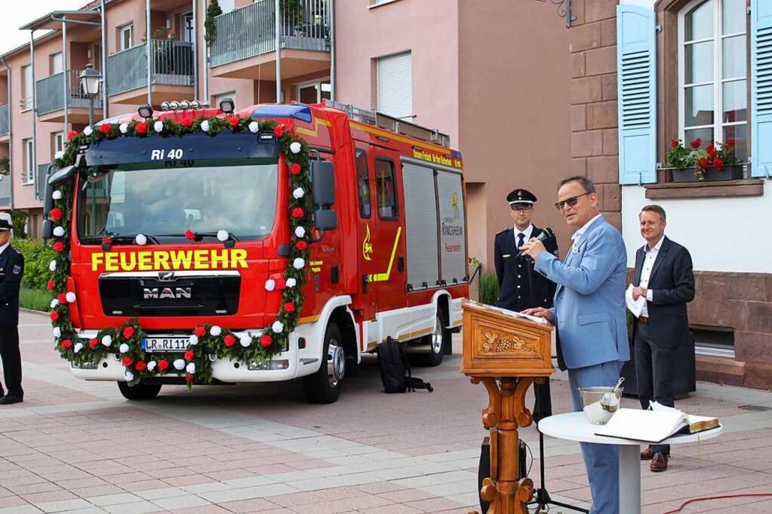 Das neue Löschfahrzeug  | Foto: Adelbert Mutz