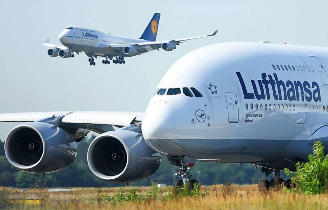 Eine Boeing 747-400 der Lufthansa land...ie USA wohl einen Kompromiss gefunden.    Foto: Arne Dedert (dpa)