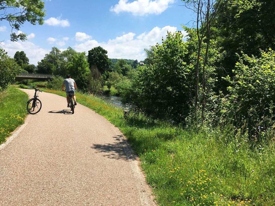 Radfahren am Fluss ist auch im Kreis Lörrach ein Vergnügen.  | Foto: Willi Adam