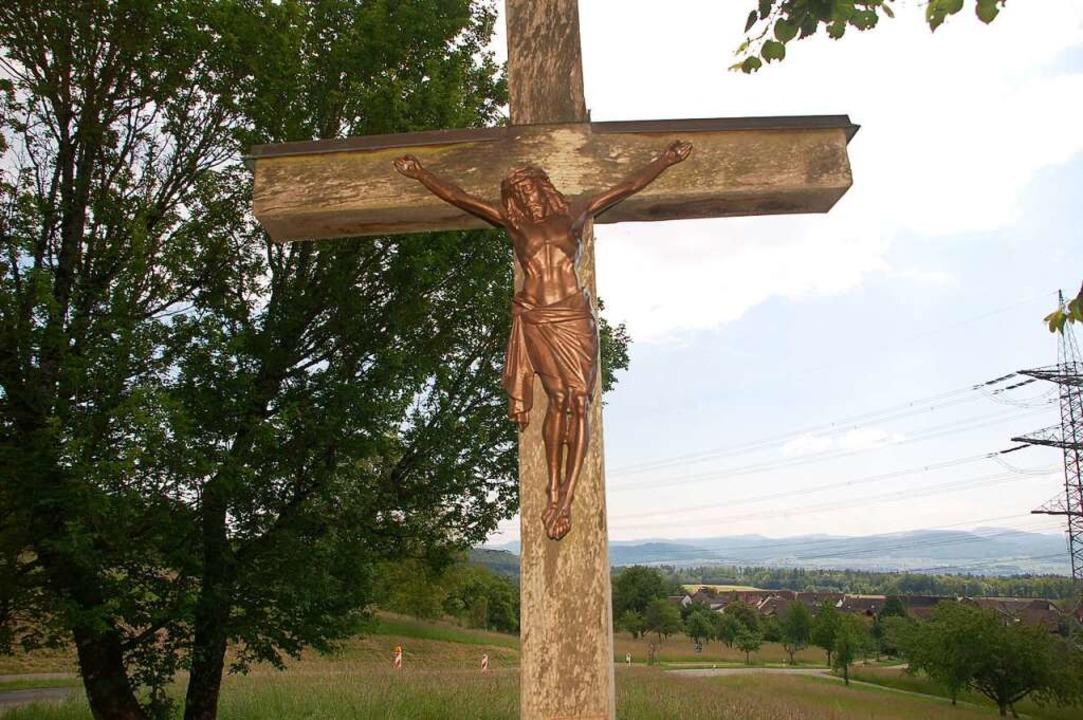 Wieder da: die Jesus-Figur  | Foto: Petra Wunderle
