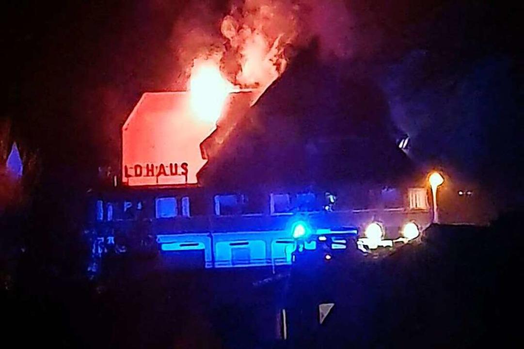 So brannte es am 1. Februar 2020 im &#...erden, kam aber nicht zur Verhandlung.  | Foto: Feuerwehr Waldkirch