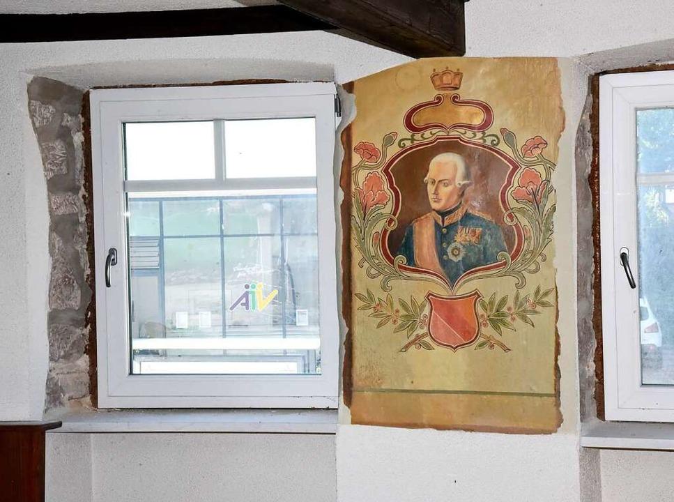 Auch dieses Wandgemälde zwischen zwei Fenstern fällt dem Abriss zum Opfer.    Foto: Markus Zimmermann
