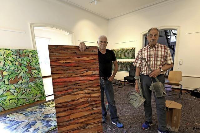 Zwei Artists in Residence, die keine weite Anreise hatten
