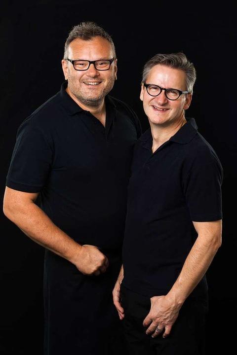 Nach 14 Jahren orientieren  sich Claude (links)  und Georg Gysin-Spitz  neu.    Foto: Pfaffenkeller Wollbach