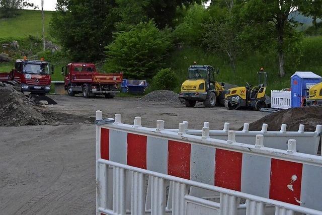 Vorarbeiten für neues Feuerwehrhaus