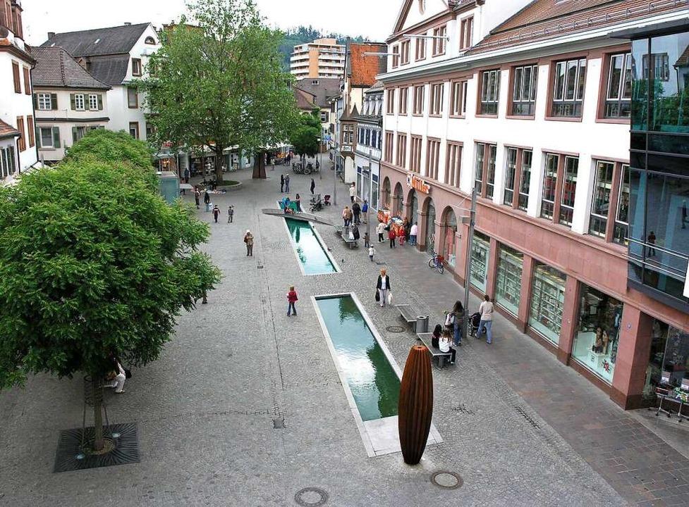 Der Blick auf den neugestalteten Schlossplatz    Foto: Stadt Lahr