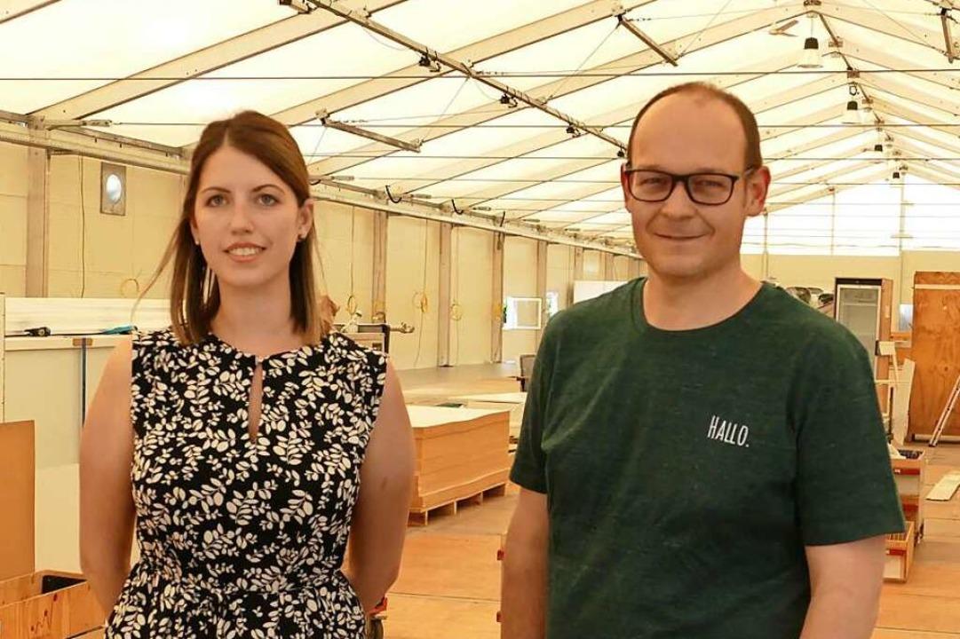 Bereiten derzeit das neue KIZ vor: Carola Felber und Daniel Dröschel  | Foto: Stefan Mertlik