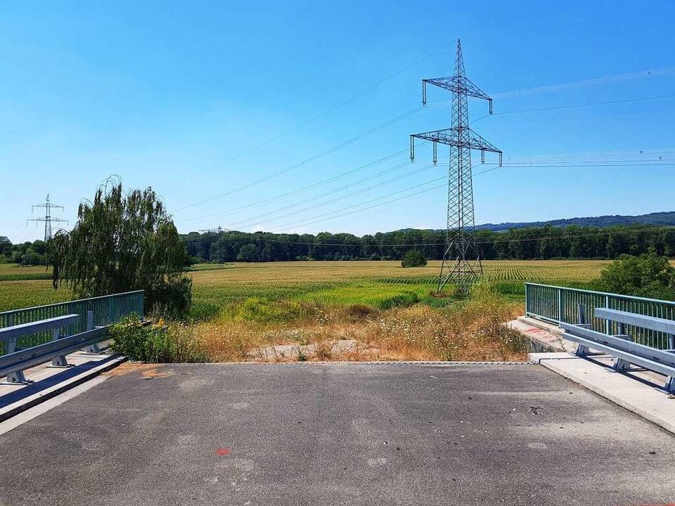 Ende im Gelände: An der Soda-Brücke be...t derzeit der Weiterbau der B 31 West.  | Foto: Sebastian Wolfrum