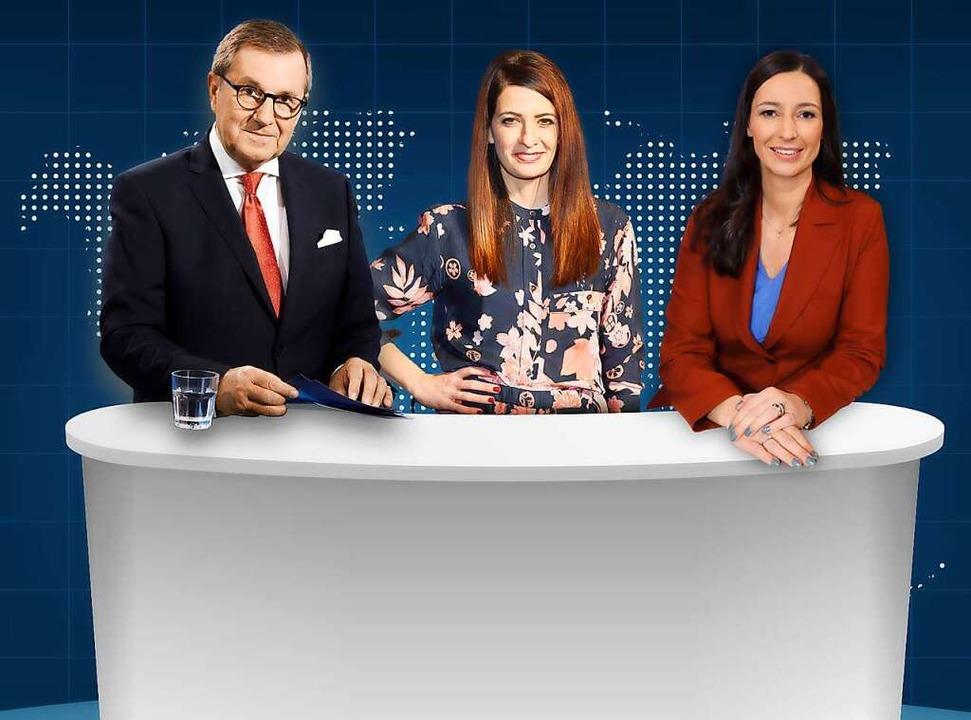 Jan Hofer mit Linda Zervakis und Pinar Atalay  | Foto: เอกชั&#3...a) / xEventpressxStauffenbergx (imago)