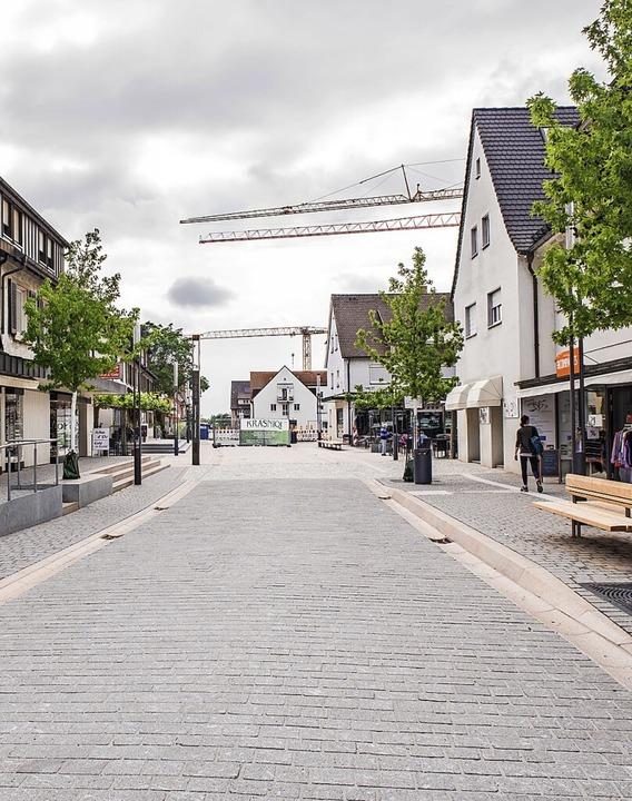 Die Sanierung der Schlüsselstraße in d... Innenstadt ist weit vorangeschritten.  | Foto: Alexander Anlicker