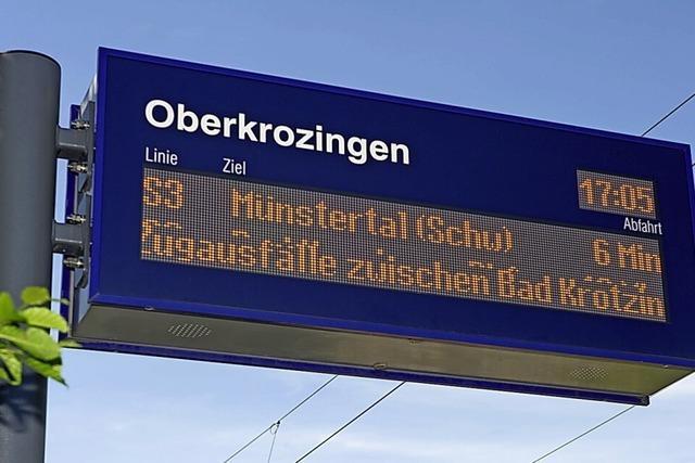 Münstertalbahn gestört