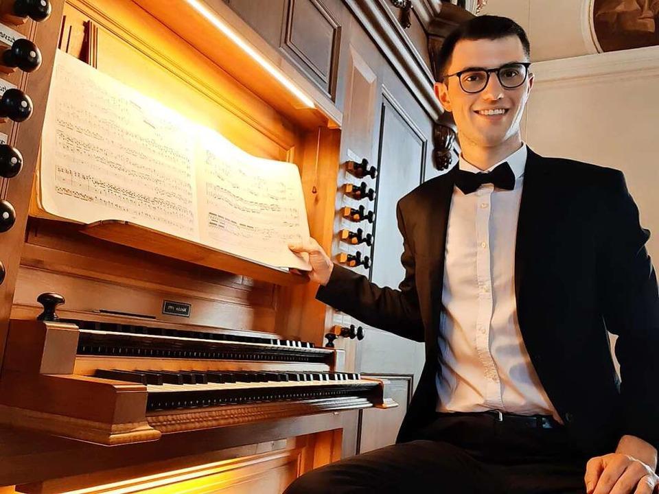 "Der 19-jährige Organist Felix Wunderle...ieg bei ""Jugend musiziert"".  | Foto: privat"