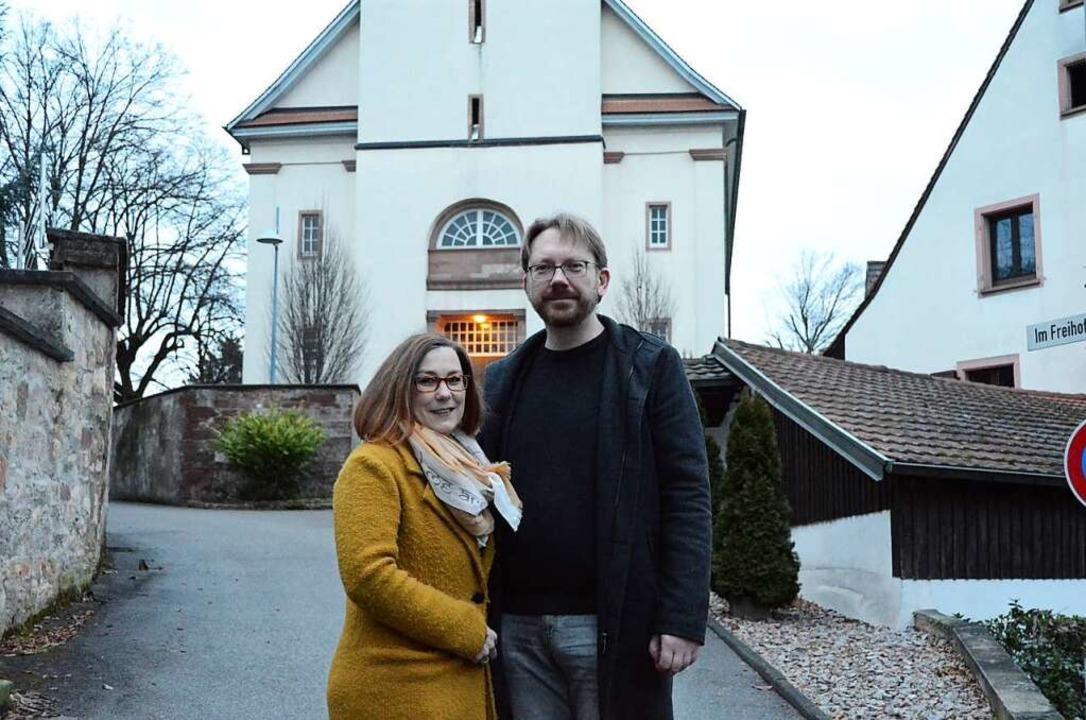 Nicht nur Ehepartner, sondern auch Kol...ngelischen Laurentiuskirche in Binzen.  | Foto: Moritz Lehmann