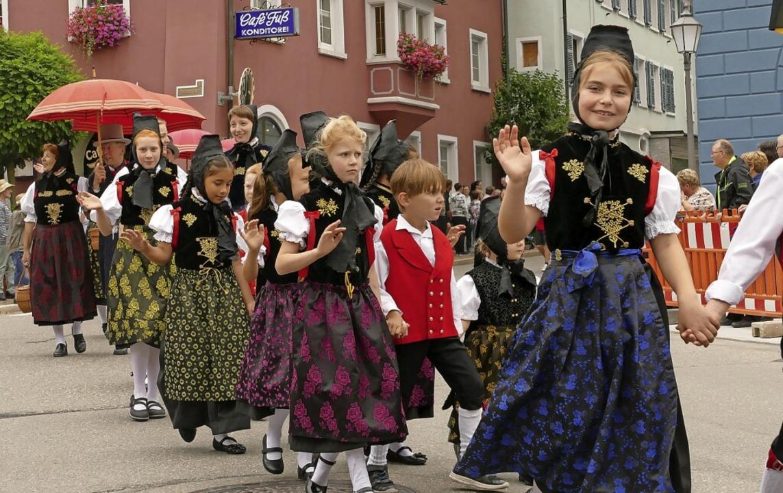 Die Trachtengruppe Löffingen bei ihrem...Auftritt beim Kreistrachtenfest  2019.  | Foto: Martin Wunderle