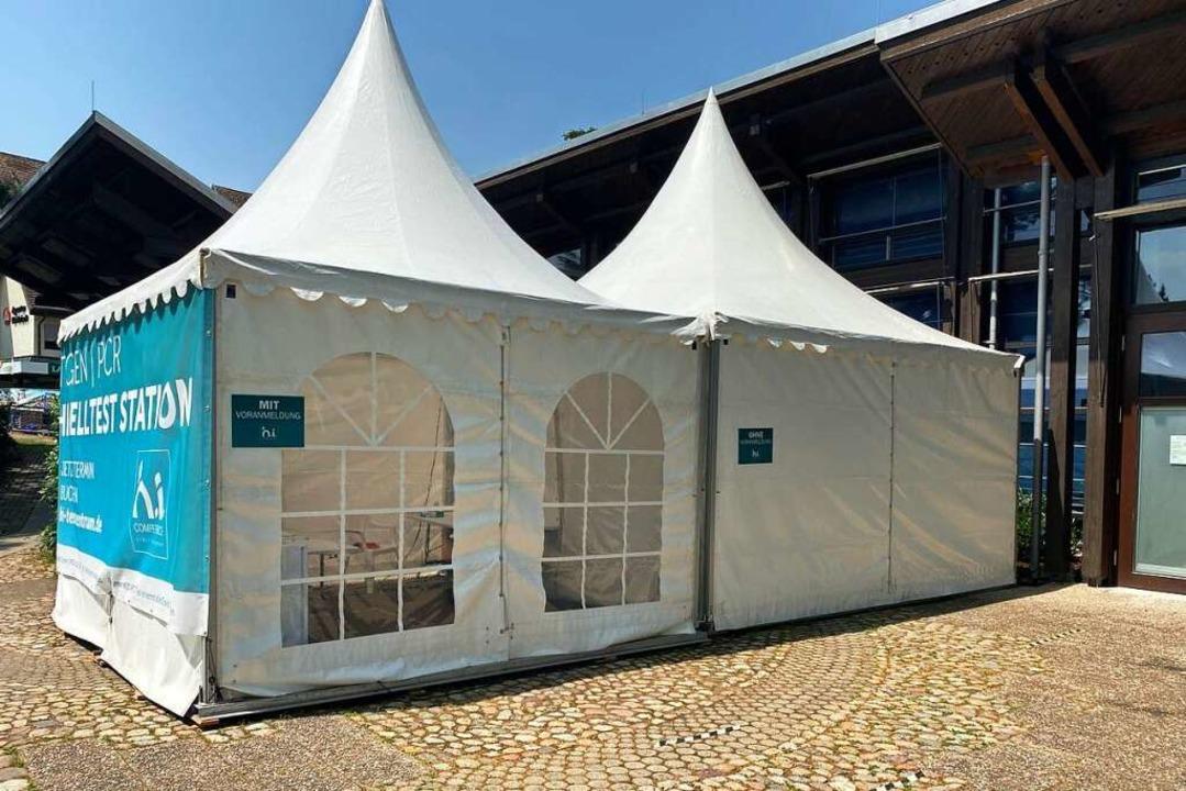 Ein Schnelltestzentrum in Müllheim wurde vorübergehend geschlossen.  | Foto: Alexander Huber