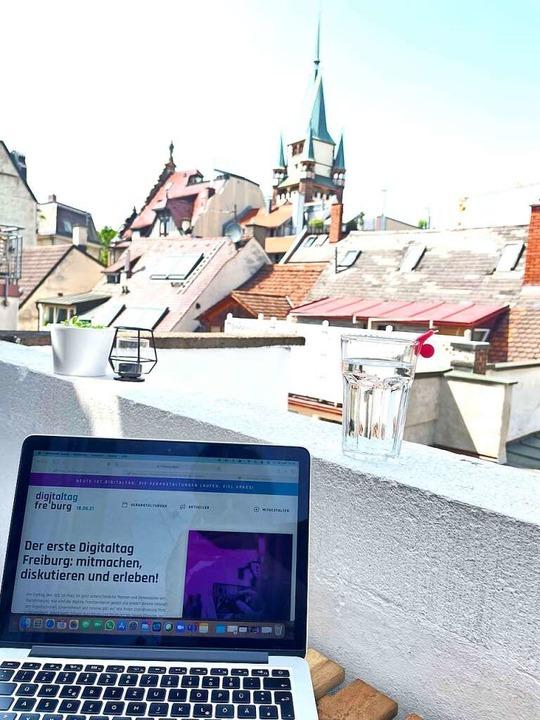 Freiburgs erster Digitaltag hieß nicht... auch ausschließlich digital besuchen.  | Foto: Jenz Kitzler