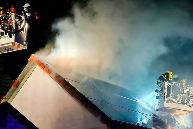 Millionenschaden nach Großbrand in der Ortsmitte von Wyhl